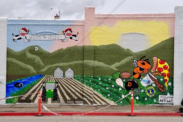 Declo, Idaho High School Art Club Mural