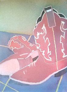 Red boots by Nancy Shinn