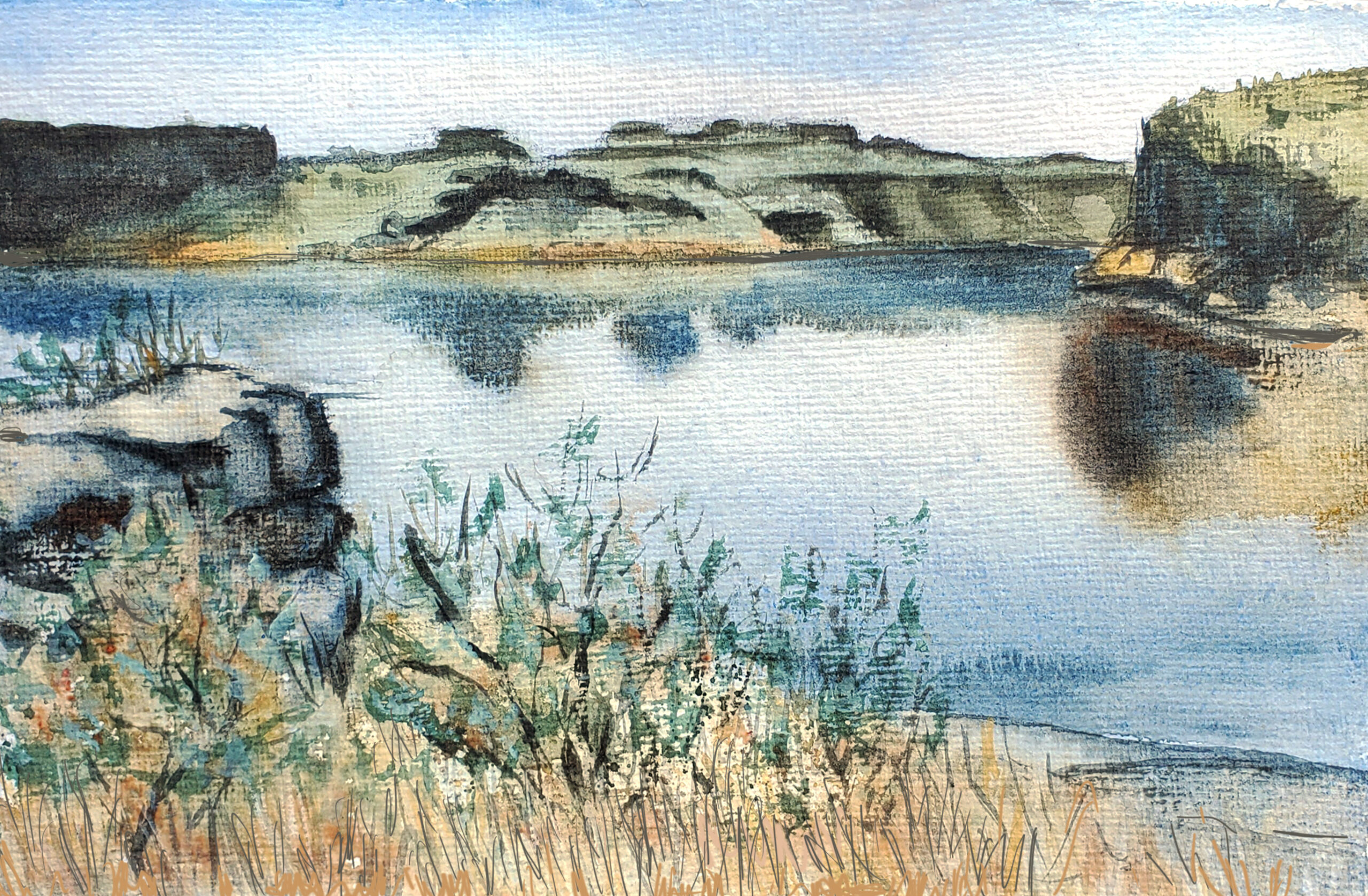 Plein Air Painting at the Columbia National Wildlife Refuge